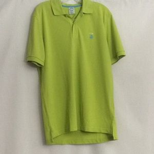 NWT Brooks Brothers Lime Green Men's Polo Shirt LG